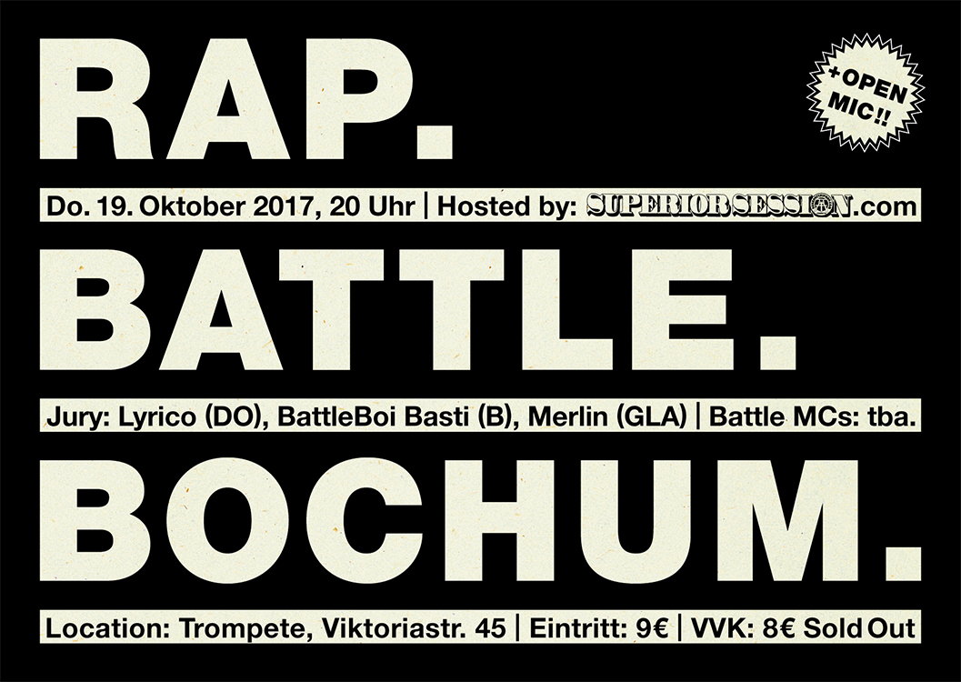 Rap. Battle. Bochum. Flyer